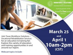 Vocational Rehabilitation Education & Training Fair