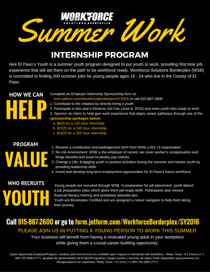 solutions for job seekers workforce solutions borderplex hire summer work